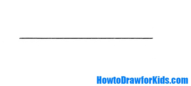 How to draw a sword for kids step by step
