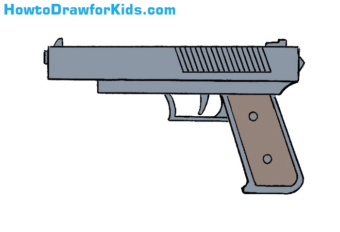 How To Draw A Gun For Kids How To Draw For Kids