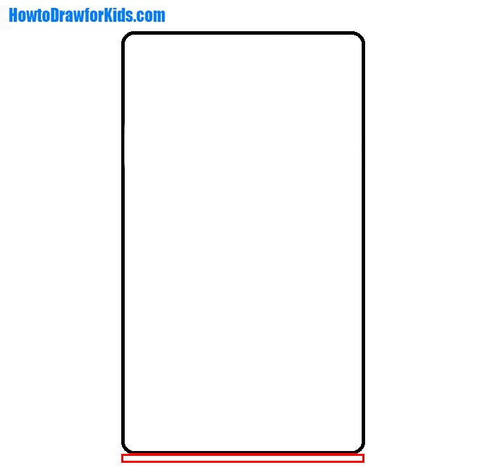 how to draw a Refrigerator for beginners