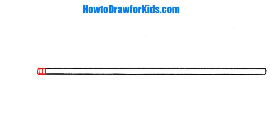how to draw a spear for beginners
