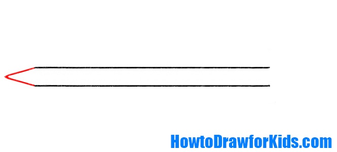 Learn to draw a sword for kids