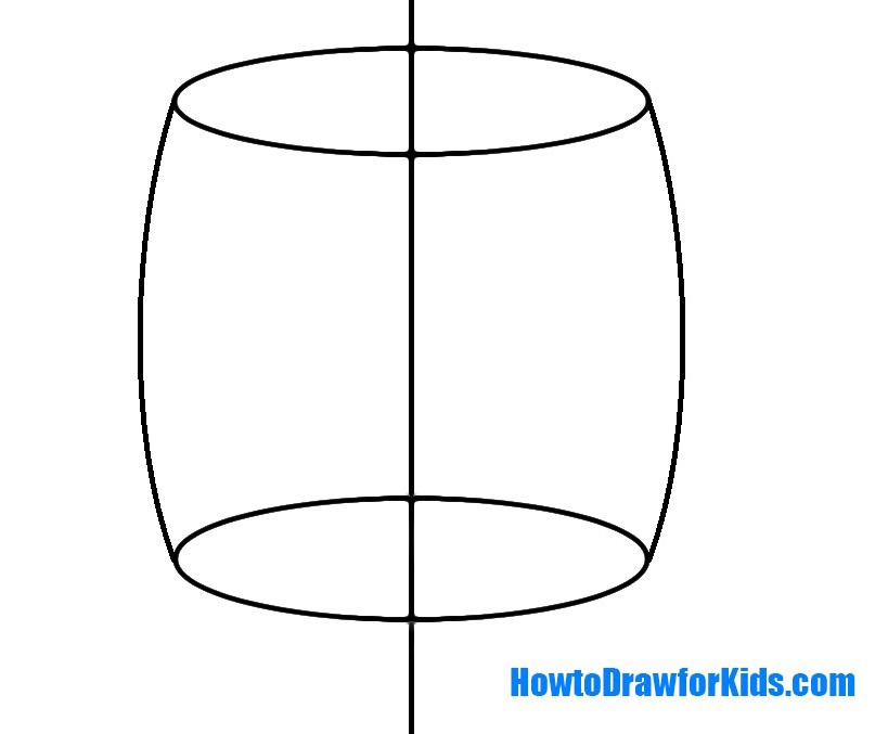 how to draw a barrel for beginners