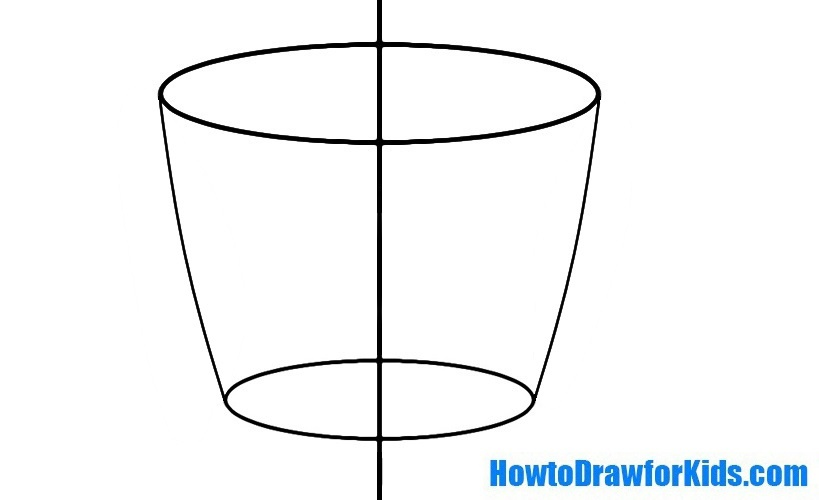 how to draw a cup for children