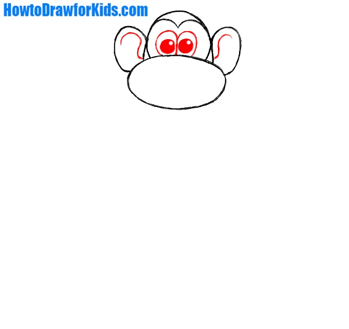 how to draw a monkey for beginners