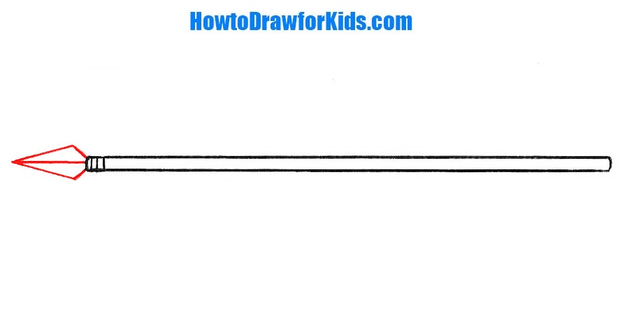 how to draw a spear for children