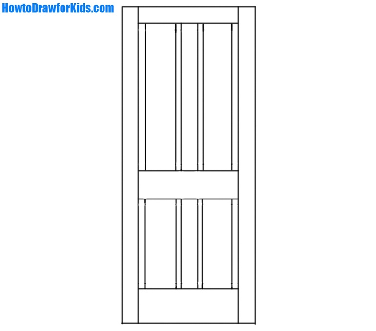 learn How to Draw a Door for kids