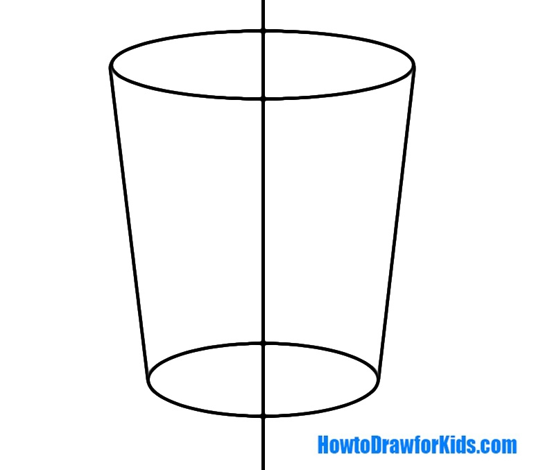 learn how to draw a glass for kids