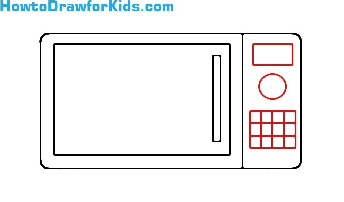 learn to draw a Microwave for beginners