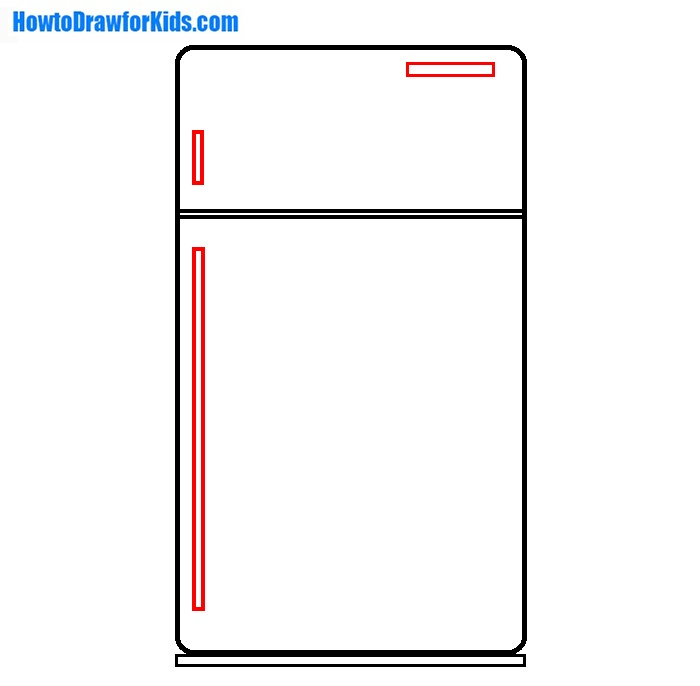 learn to draw a Refrigerator