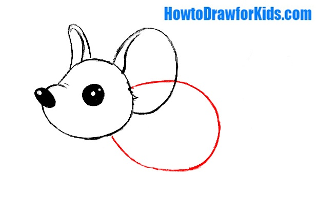learn to draw a mouse for children