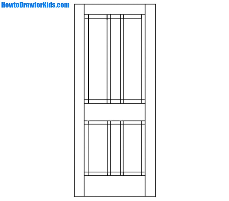 How to Draw a Door for children
