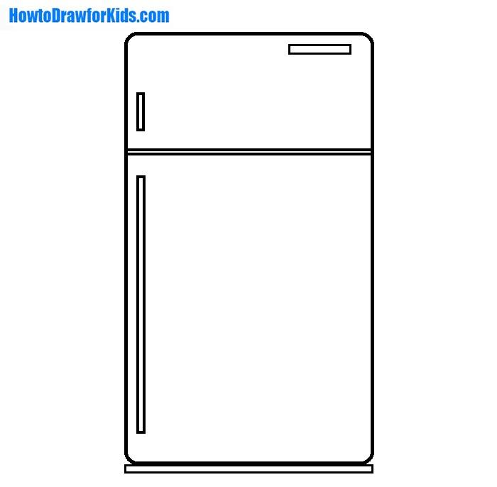 Refrigerator drawing