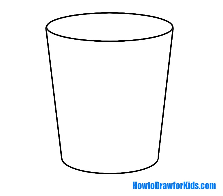 how to draw a glass for beginners