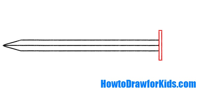 how to draw a sword for children