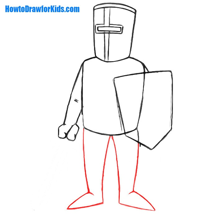 learn to draw a crusader for beginners