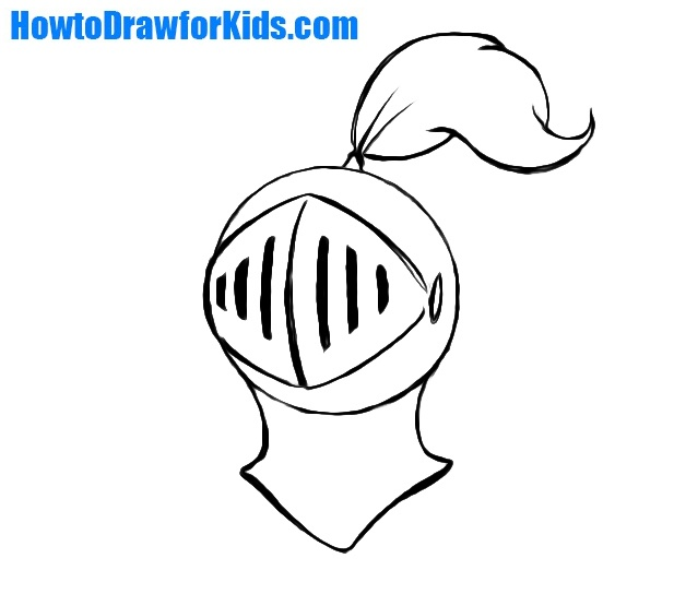 How to Draw a Knight Helmet for Kids | HowtoDrawforKids