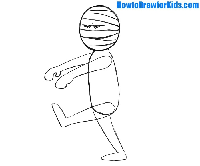 how to draw a mummy for beginners