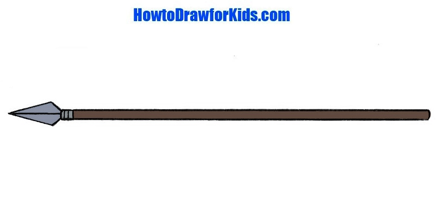 how to draw a spear for kids