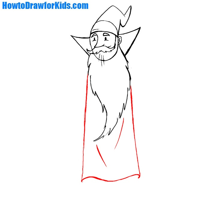 how to draw a wizard for children