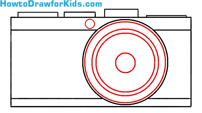 learn how to draw a camera easy