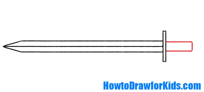 learn how to draw a sword for beginners