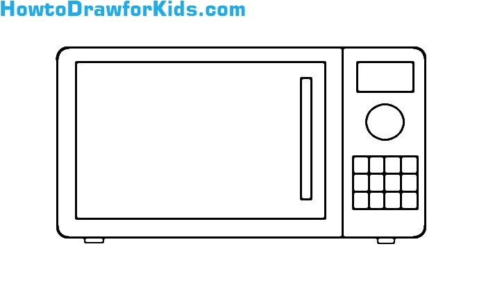 learn to draw a Microwave