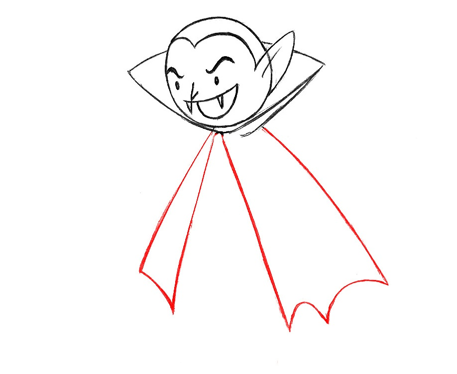 learn to draw a vampire for children