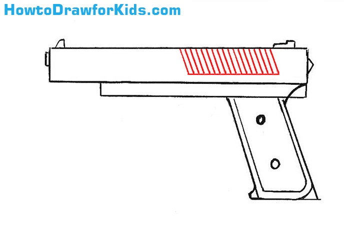How to Draw a Gun for beginners