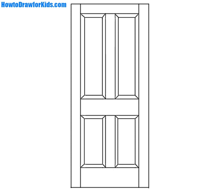 Line Drawing Door : How to draw a door for beginners howtodrawforkids