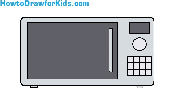 How to Draw a Microwave for Kids | HowtoDrawforKids
