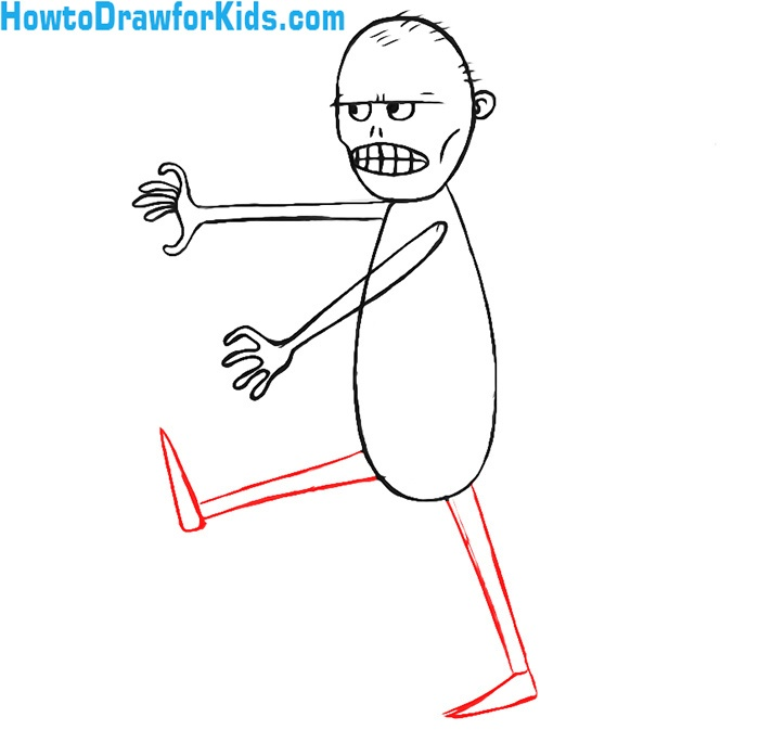 how to draw a zombie for beginners