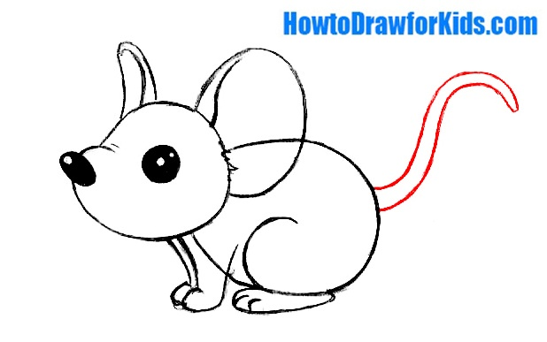 learn how to draw a mouse