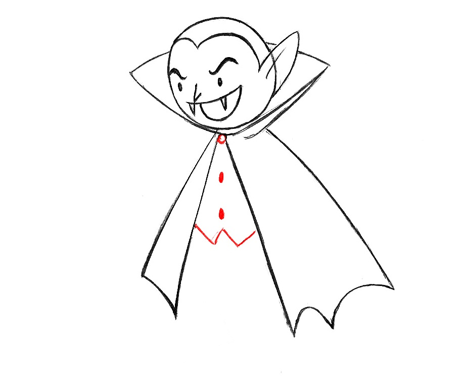 learn how to draw a vampre for kids step by step