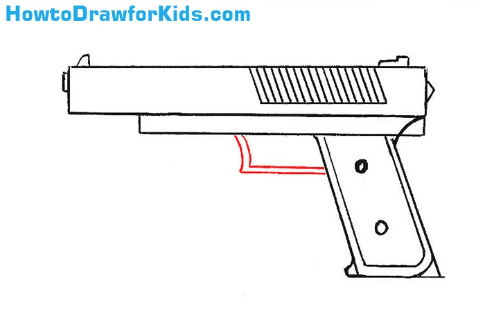 How to Draw a Gun for children