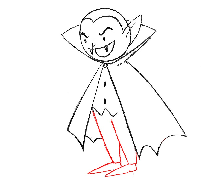 how to draw a vampire for kids
