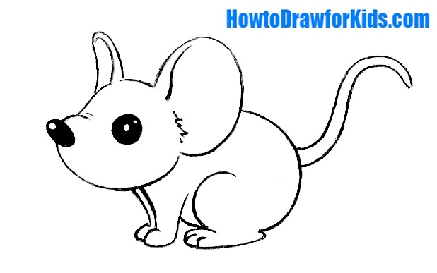 Drawing Lines With Mouse In Java : How to draw a mouse for kids howtodrawforkids