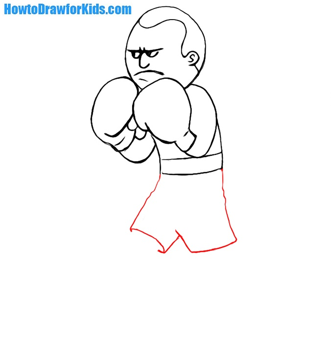 how to draw a boxer for children
