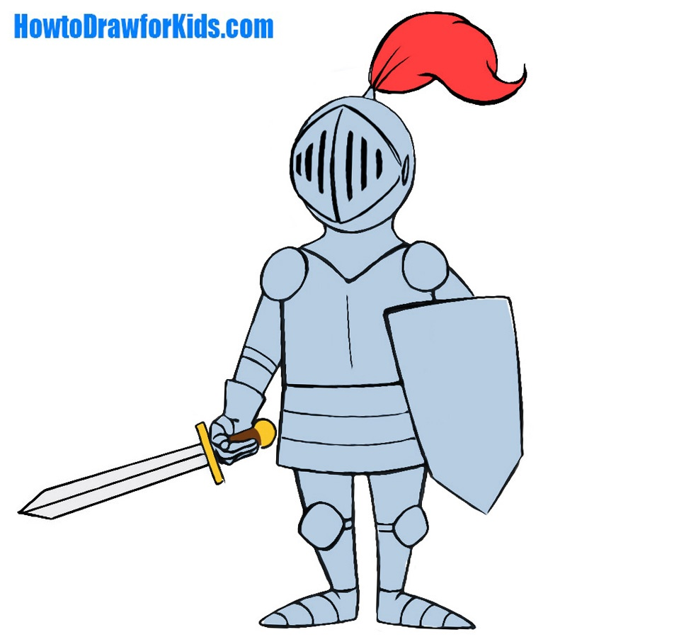 Hi today we will show you how to draw a knight for kids a knight is a heavily armed cavalry soldier a bearer of the noble knightly tradition