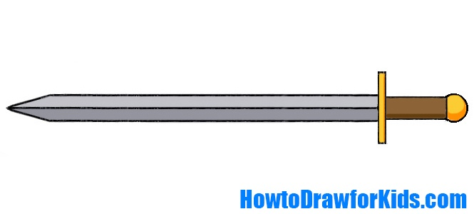 How To Draw A Sword For Kids How To Draw For Kids