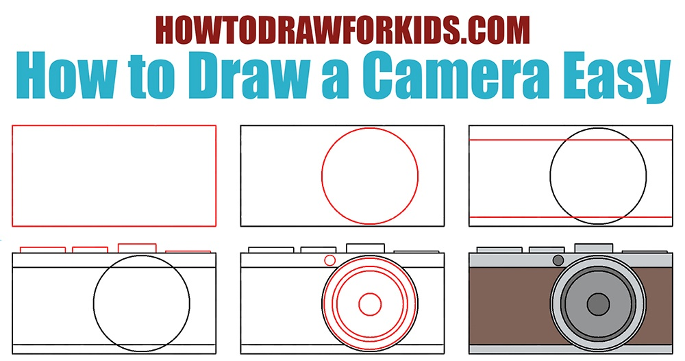 How to Draw a Camera Easy for kids