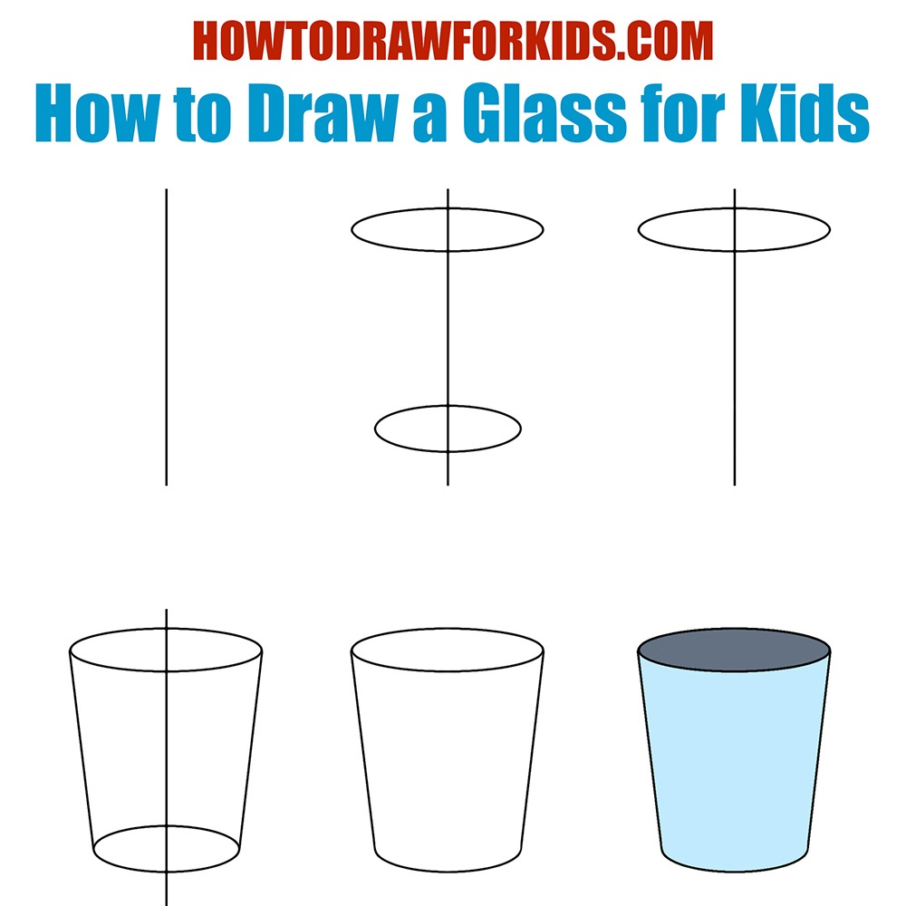 How to Draw a Glass for Kids