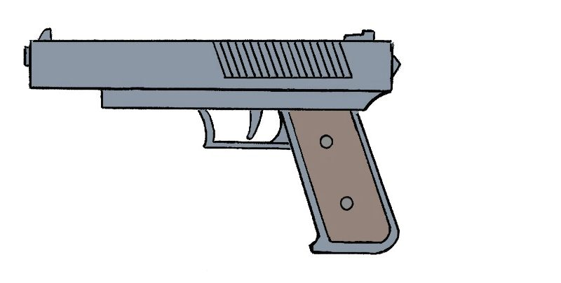how to draw suppressed pistol