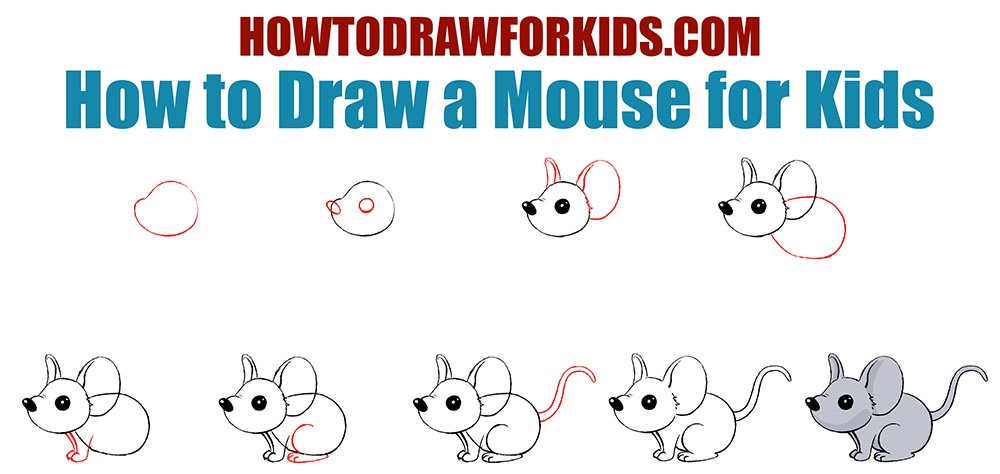 How to Draw a Mouse for Kids