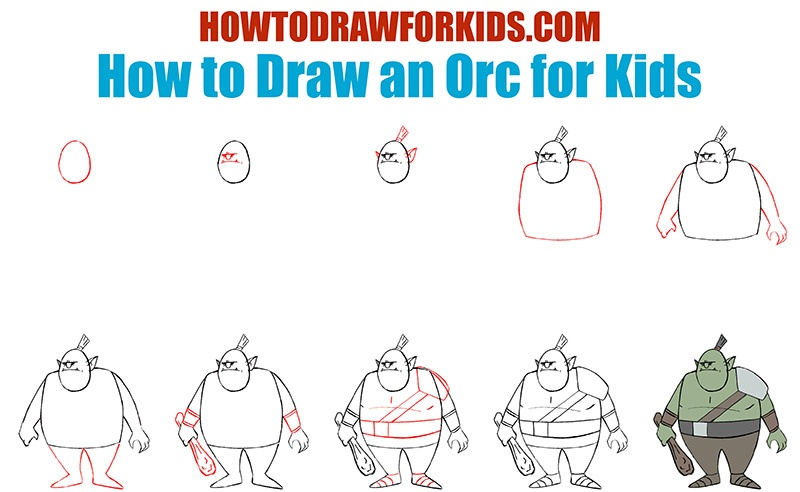 How to Draw an Orc for Kids