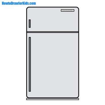 How to Draw a Refrigerator for Kids