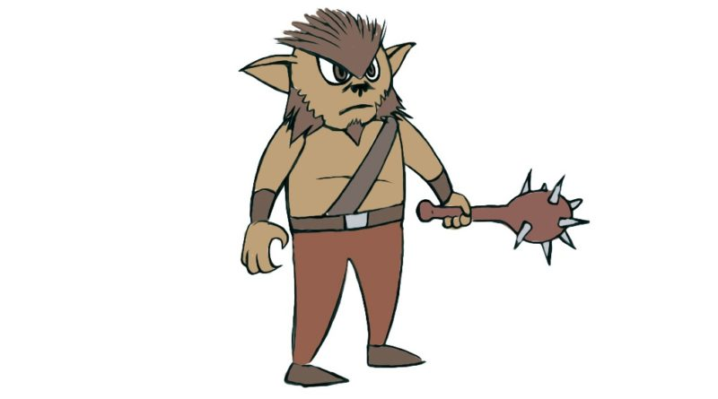 how to draw a bugbear for kids