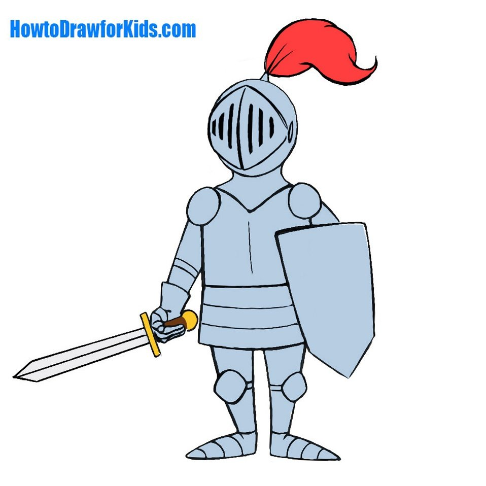 How to Draw a Knight for Kids | HowtoDrawforKids.com