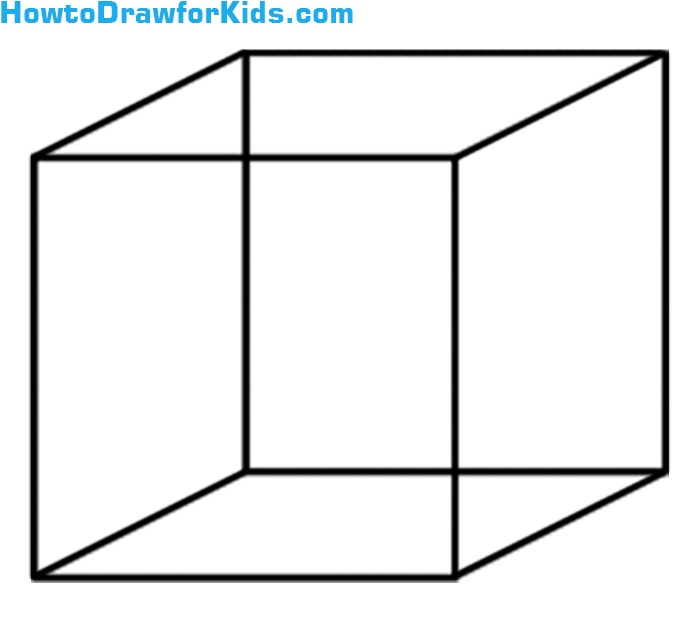 Learn drawing a cube