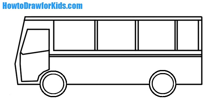 How To Draw A Bus For Kids How To Draw For Kids