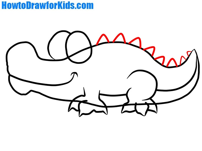 how to draw a crocodile with a pencil